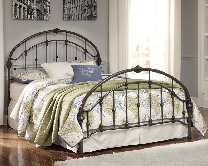 Nashburg Signature Design by Ashley Bronze Finish King Metal Bed