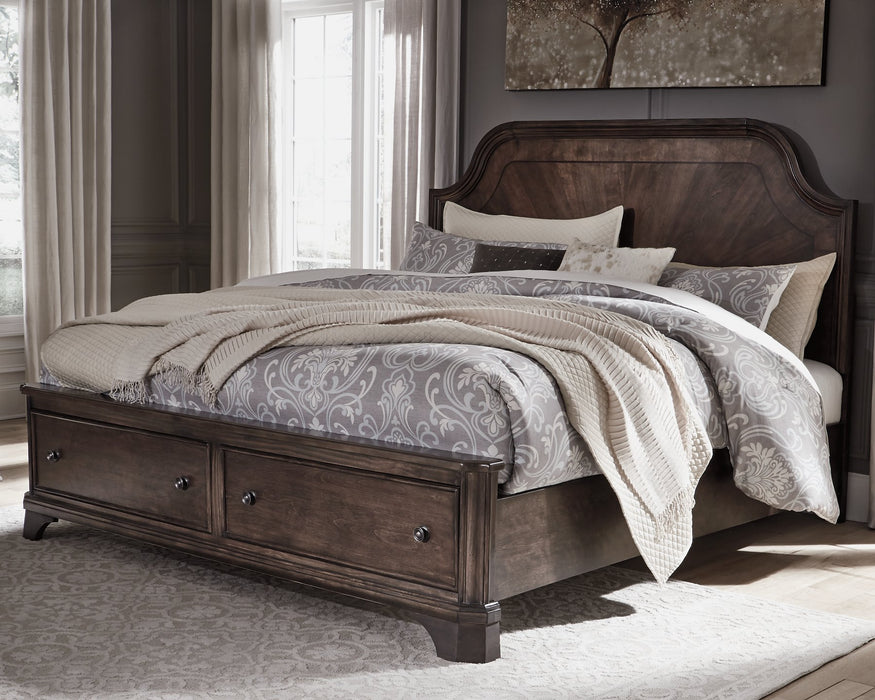 Adinton Signature Design by Ashley Bed with 2 Storage Drawers image