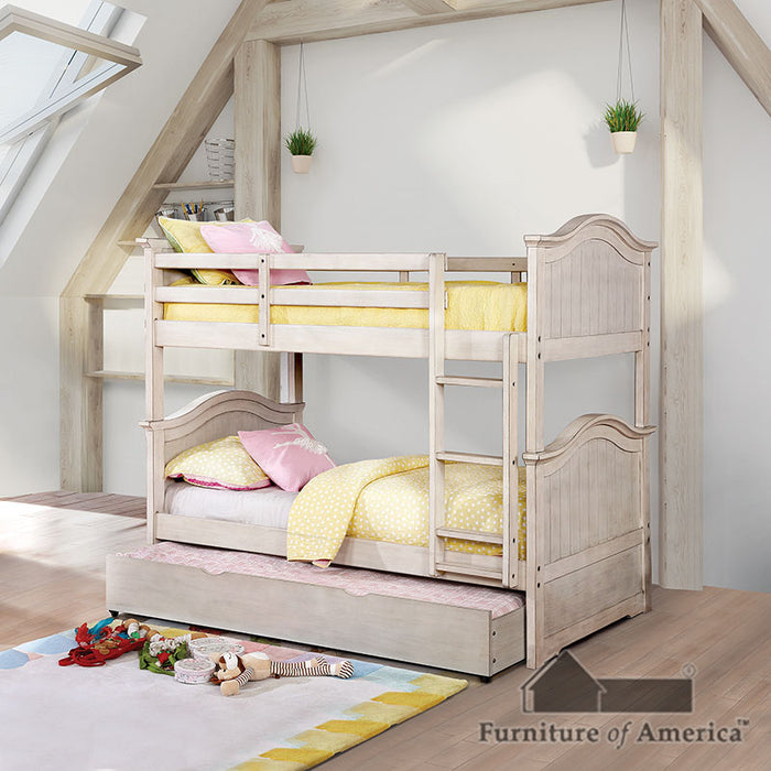 Hermine White Twin/Twin Bunk Bed image