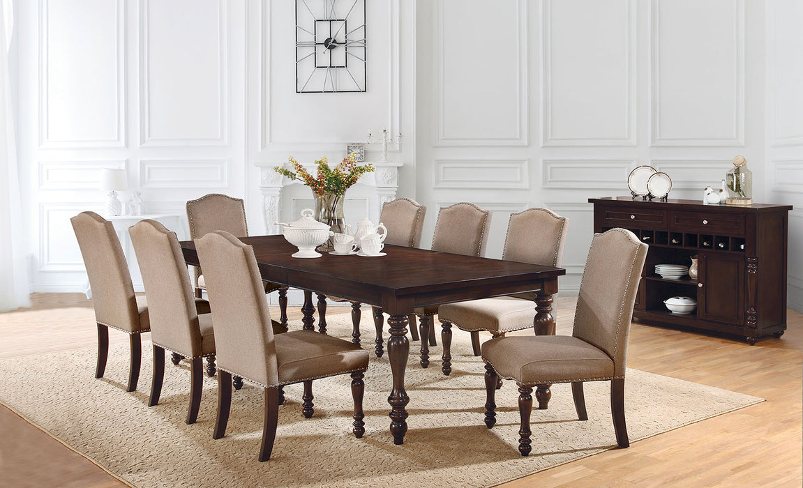 HOLCROFT Antique Cherry, Beige 6 Pc. Dining Table Set w/ Bench image