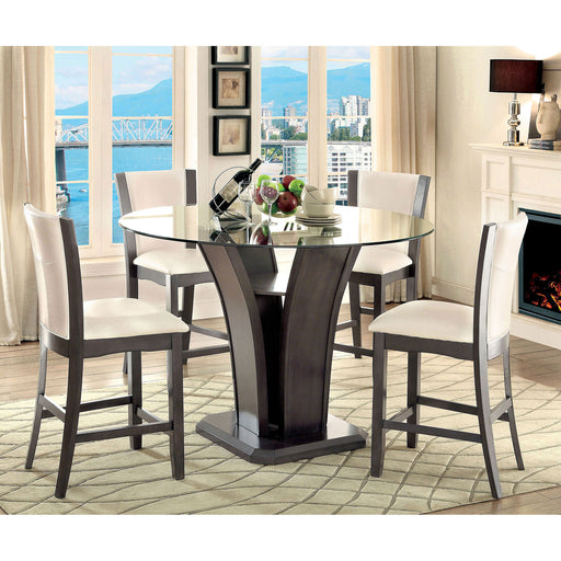 MANHATTAN III Gray 7 Pc. Round Counter Ht. Table Set image