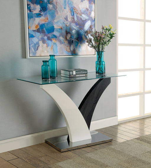 SLOANE White/Dark Gray/Chrome Sofa Table image