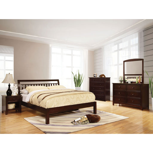 Corry Dark Walnut 4 Pc. Queen Bedroom Set image