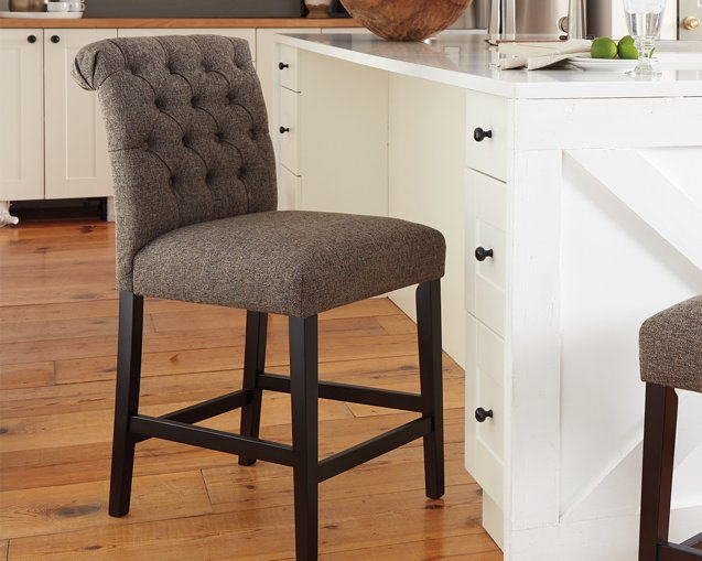 Tripton Signature Design by Ashley Graphite Counter Height Bar Stool