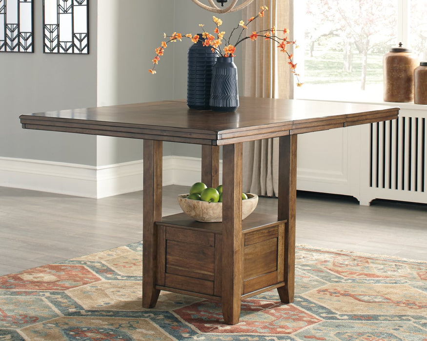 Flaybern Benchcraft Brown Counter Height Dining Table
