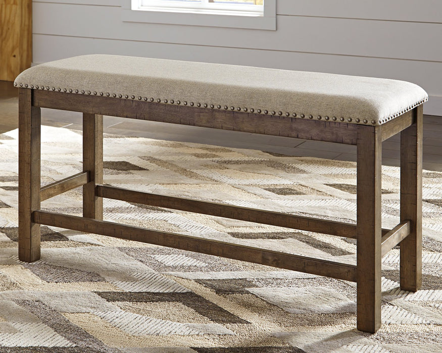 Moriville Signature Design by Ashley Beige Counter Height Dining Bench
