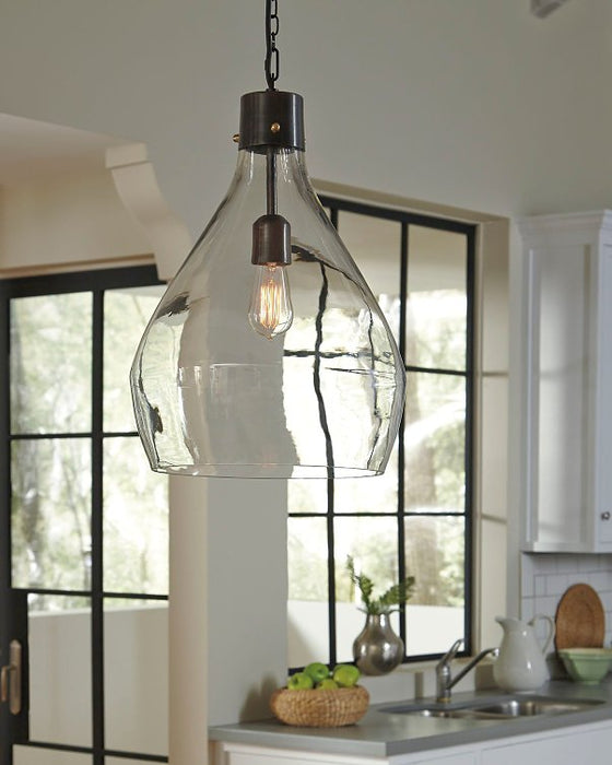 Avalbane Signature Design by Ashley ClearGray Pendant Light