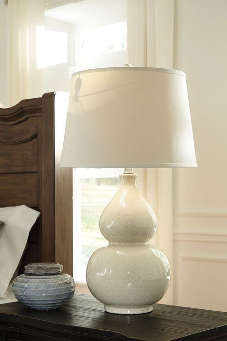 Saffi Signature Design by Ashley Cream Table Lamp