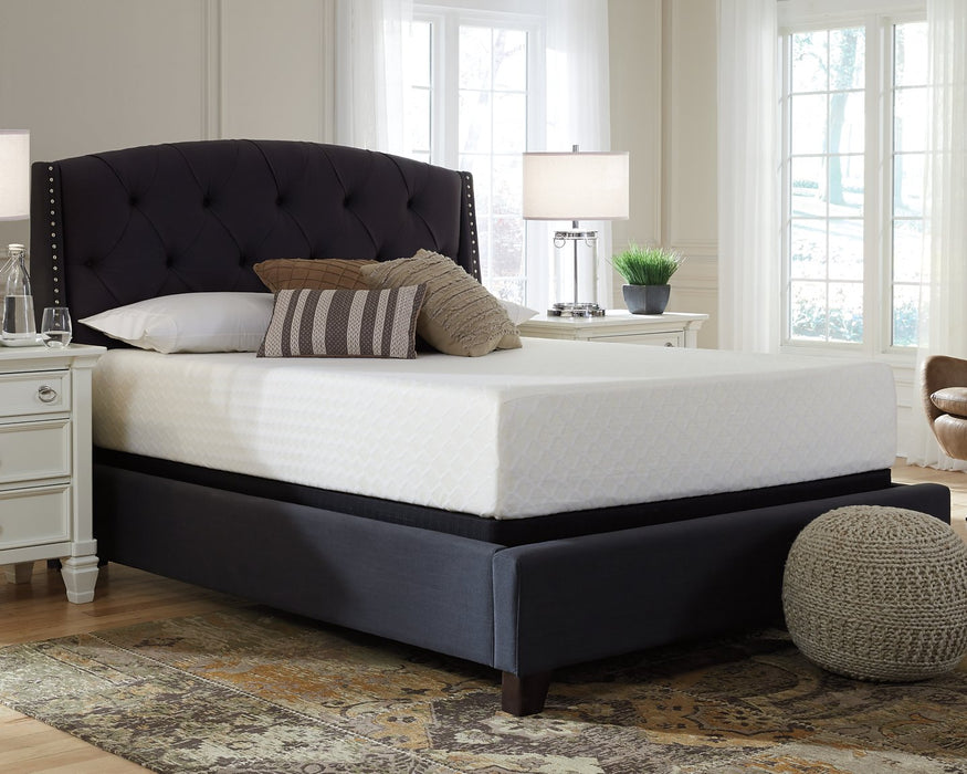Chime 12 Inch Memory Foam Sierra Sleep by Ashley White King Mattress in a Box