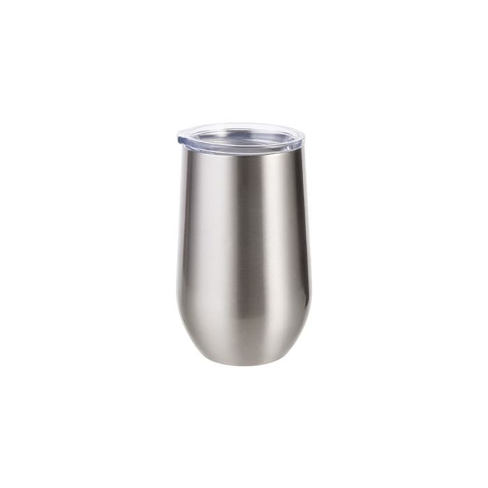 17OZ STAINLESS STEEL STEMLESS WINE CUP - SILVER