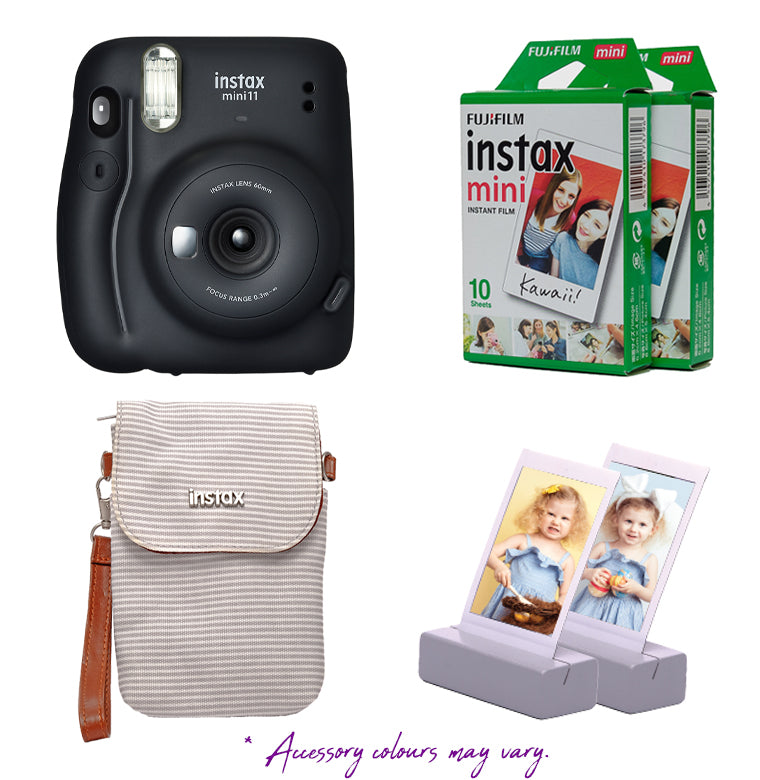 instax Mini 11 Camera Combo (Camera, 2x Film, 1x Case, 2x Photo Stands)