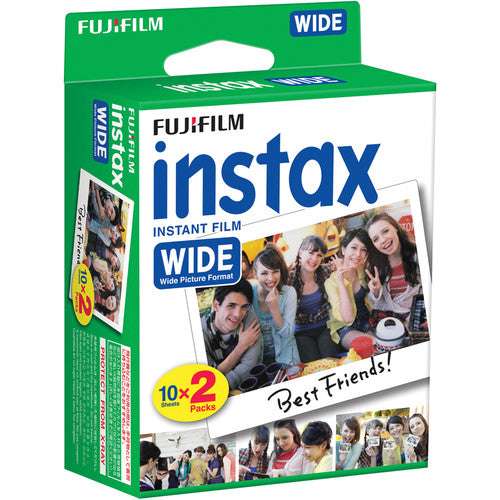 INSTAX Film Wide Double Pack - 20 Sheets - White