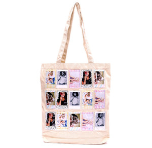 Instax Cream Canvas Bag Holds 12 Mini photos