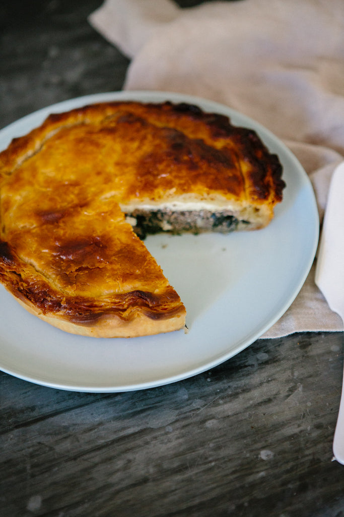 Mushroom, ricotta and spinach pie