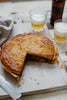 Chicken and sweet potato pie with garden peas