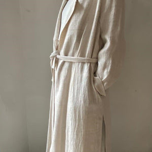 Linen trench coat powder size M