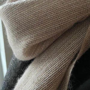 Linen & wool scarf Tr powder gold 80x200 cm