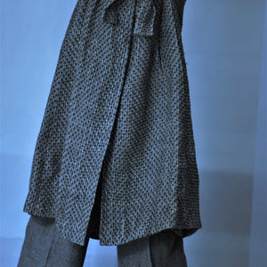 Linen coat Mezgine fur
