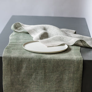 Table runner Double Tinita spinach 45x170 cm