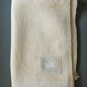 Linen & silk throw LZ Trinis ocker  125x190 cm