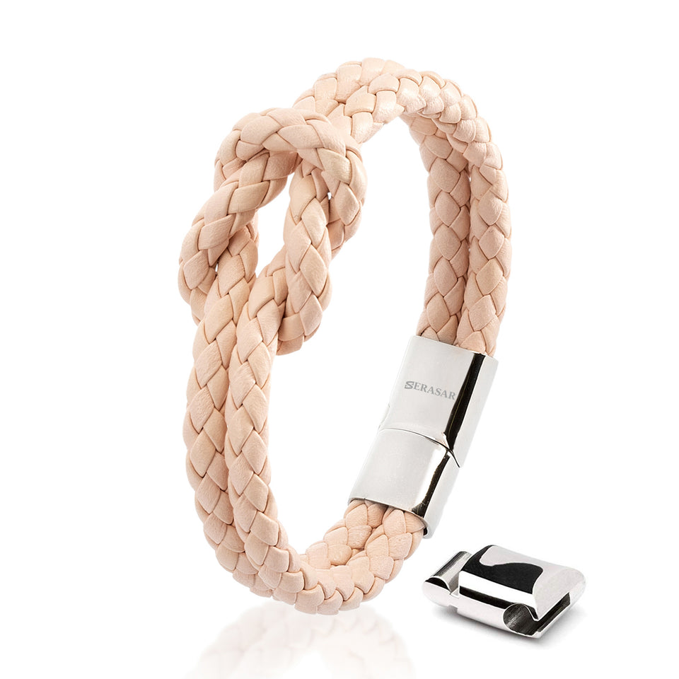 Leather strap - pink