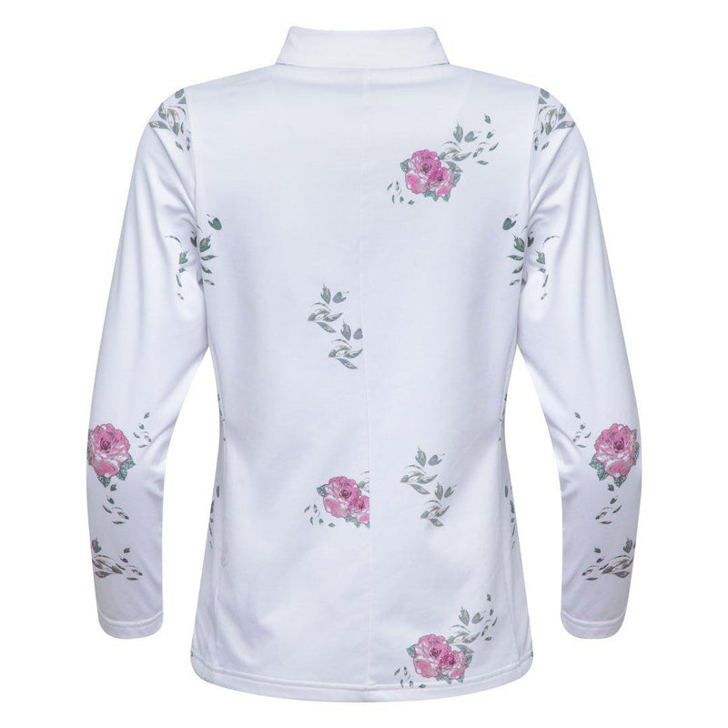 W CUT FULL ZIP<br />Flower White BS