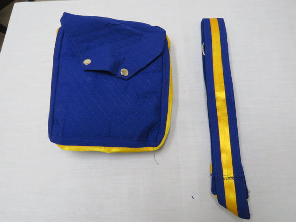 Khajana or Gutka Sahib Bag with Adjustable Strap and 2 - Tich Button Colour Royal Blue With Same Colour Adjustable Gatra