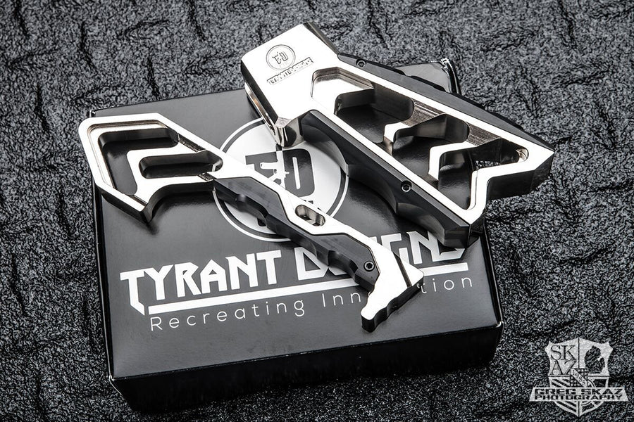 MOD AR 15 Grip in polished Nickel by Tyrant Designs