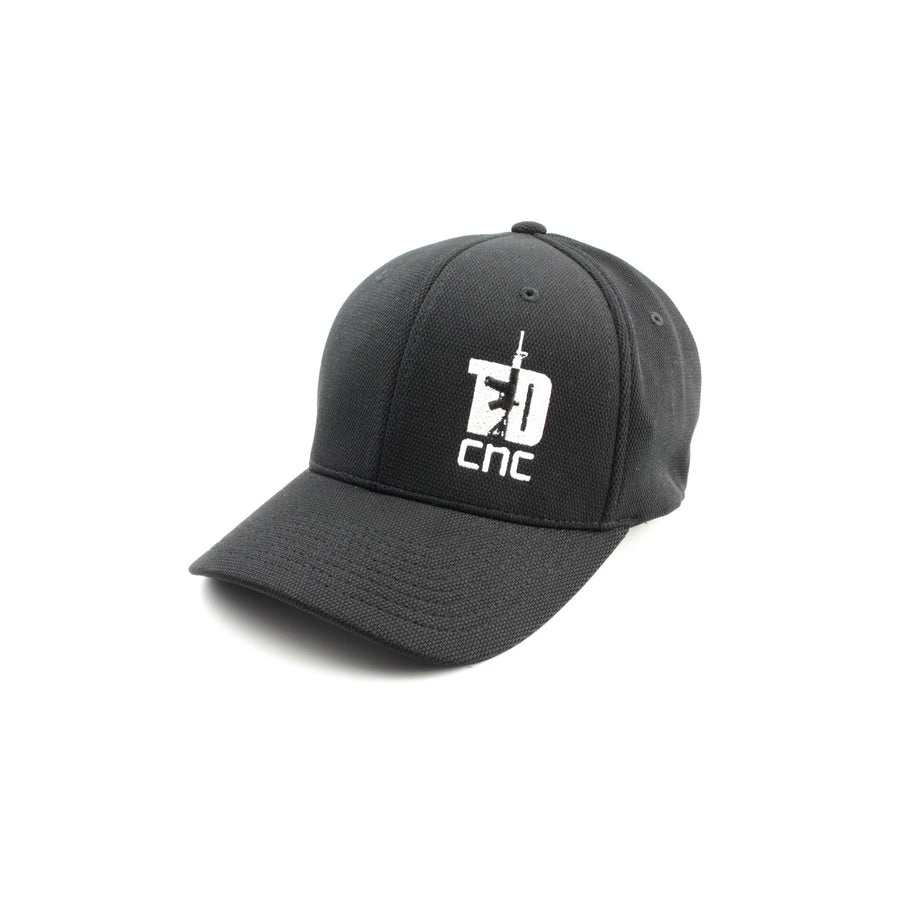 Red logo FlexFit hat | Tyrant Designs CNC