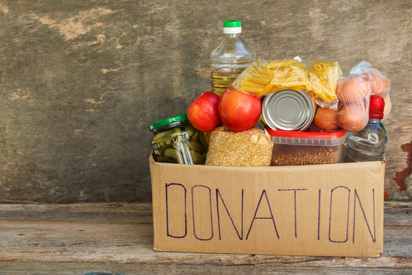 Donation box with food