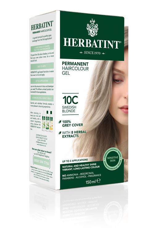 Herbatint Permanent Colour - 10C Swedish Blonde