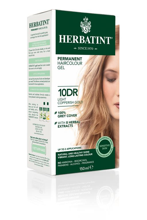 Herbatint Permanent Colour - 10DR Light Copperish Gold