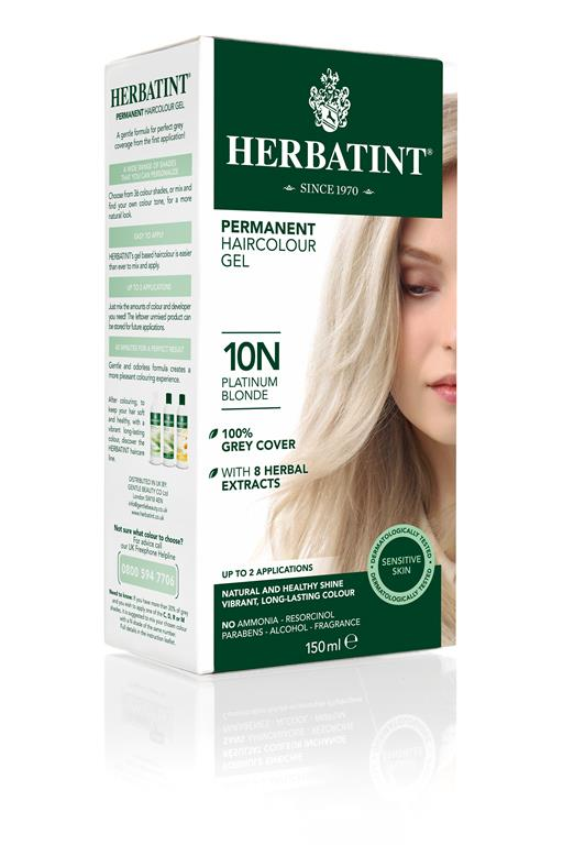 Herbatint Permanent Colour - 10N Platinum Blonde