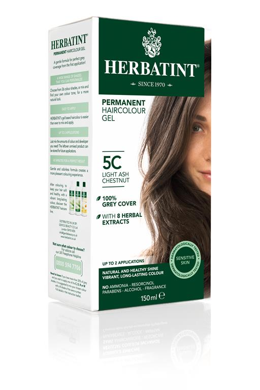 Herbatint Permanent Colour - 5C Light Ash Chestnut