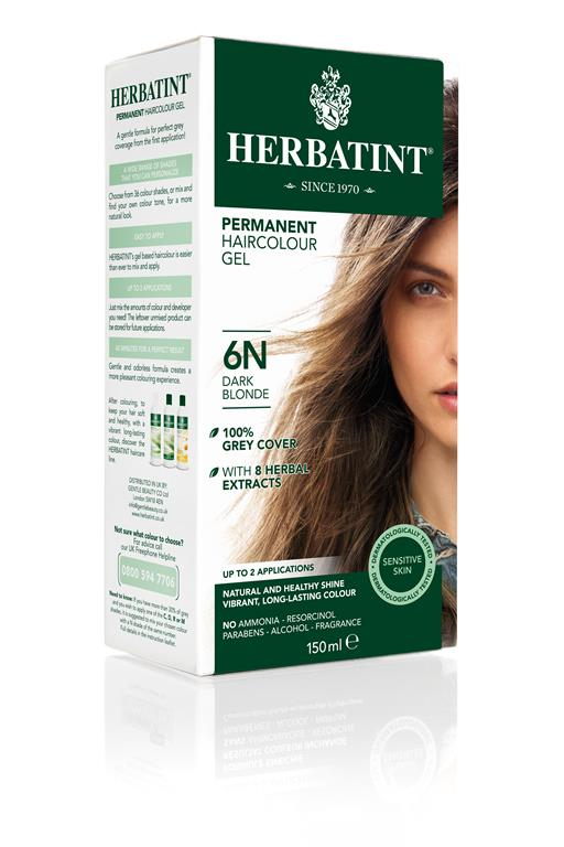 Herbatint Permanent Colour - 6N Dark Blonde