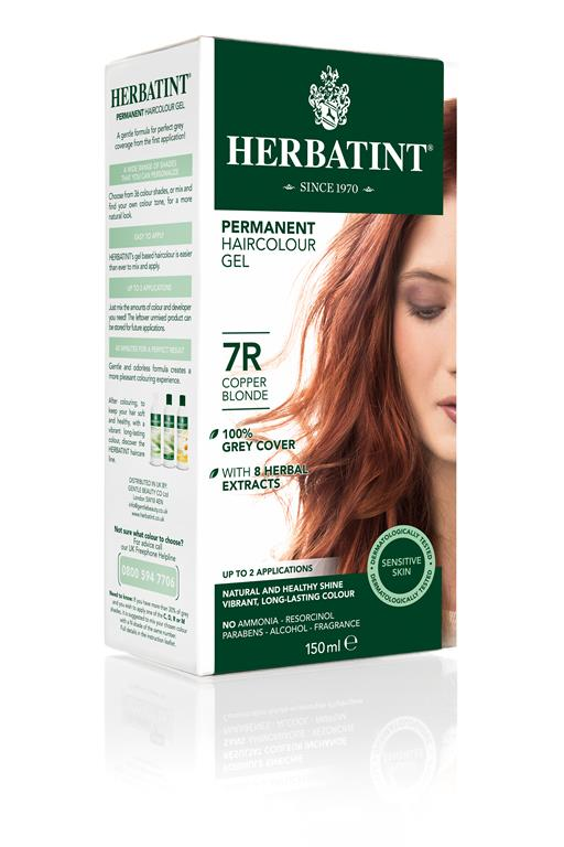 Herbatint Permanent Colour - 7R Copper Blonde