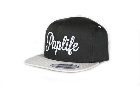 Paplife Snapback - Black/Grey