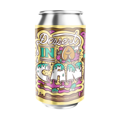 Amundsen Dessert In A Can - Unicorn Sprinkle Strawberry Doughnut- PRE-ORDER
