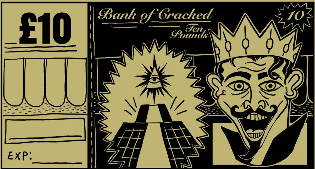 Bank Of Cracked Gift Voucher £10
