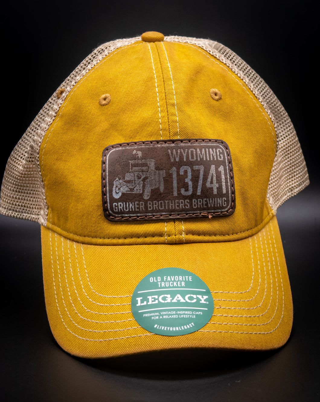 Yellow License Plate Hat