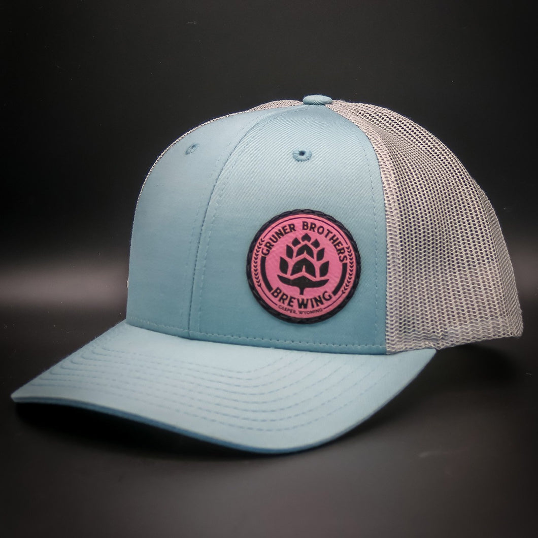 115 Teal Hat With Pink Logo
