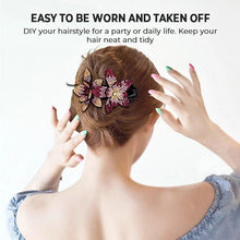 Load image into Gallery viewer, Rhinestone Double Flower Hair Clip(2PCS)