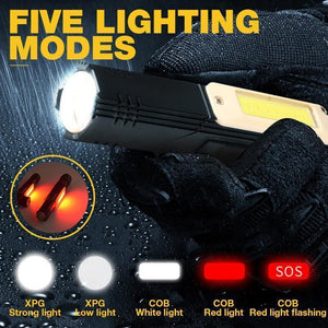Multifunctional 360-degree Magnet Anti-fall Flashlight