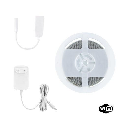 Wifi Smart LED Strip Kit 12V 72LED/m 5m RGBWW IP65 - Ledshopper.nl