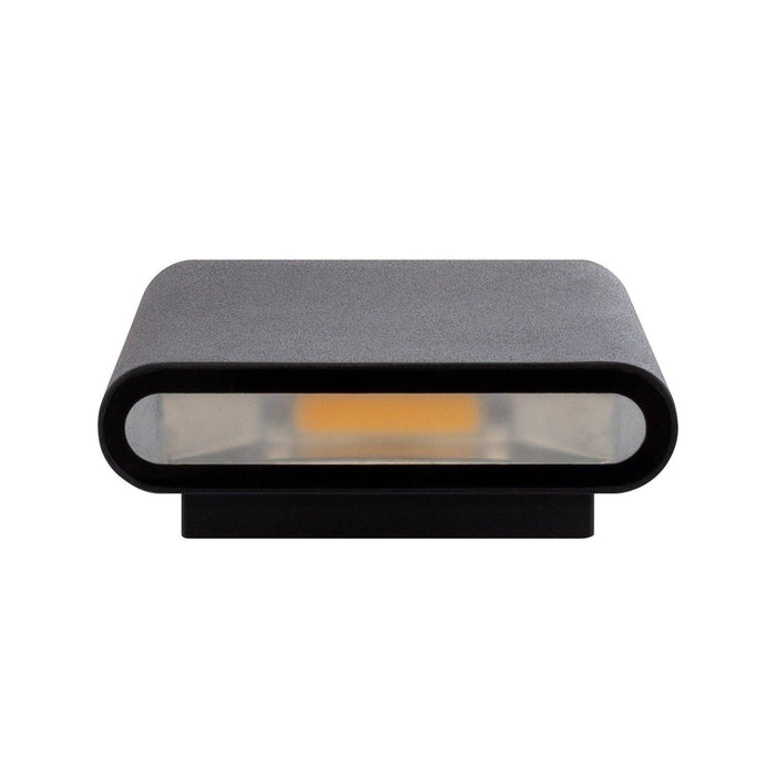 Zwarte 12W Viesta LED Up-Down wandlamp - Ledshopper.nl