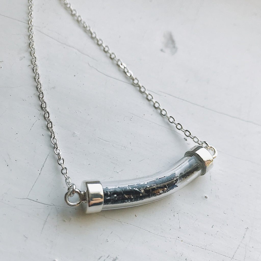 Stardust Necklace with Meteorite