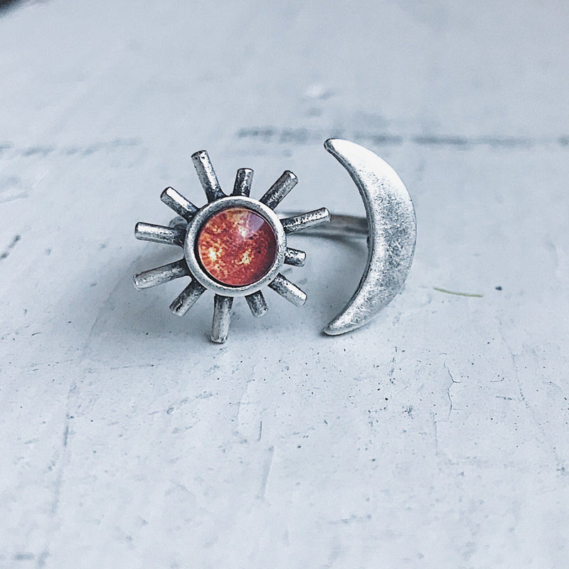 Celestial Sun and Moon Ring