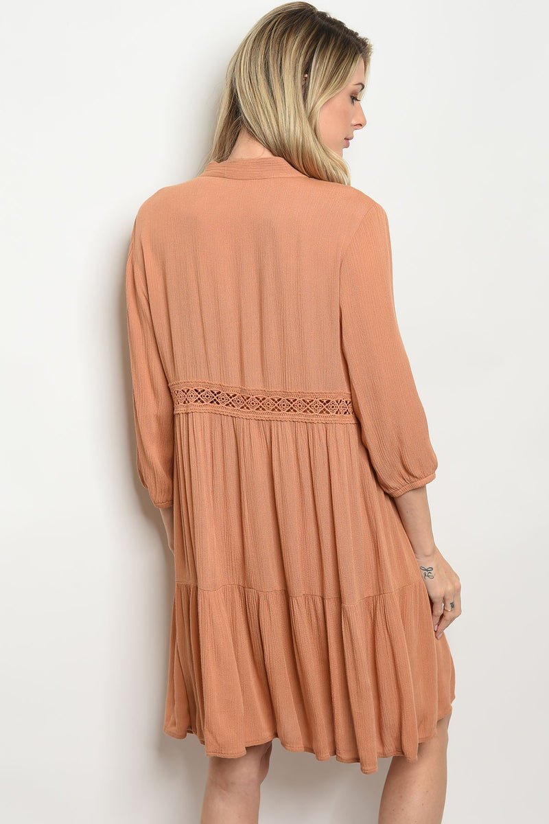Terra Cotta Tie Dress
