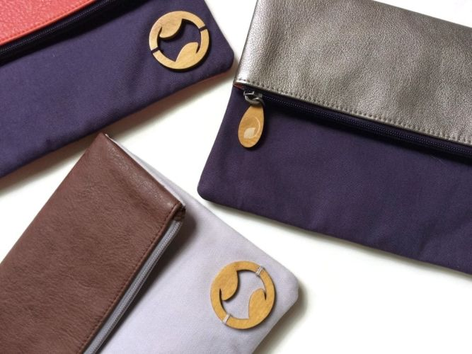 Carroll Vegan Foldover Clutch & iPad Purse