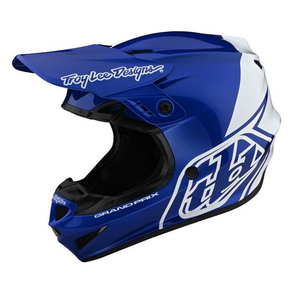 Troy Lee Designs GP Helmet - Block - Blue/White